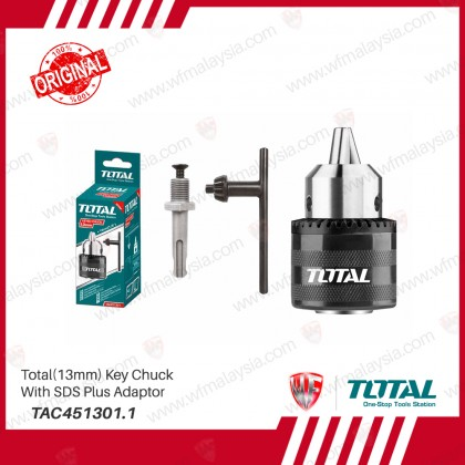 Total TAC451301.1 (13mm) Key Chuck With SDS Plus Adaptor